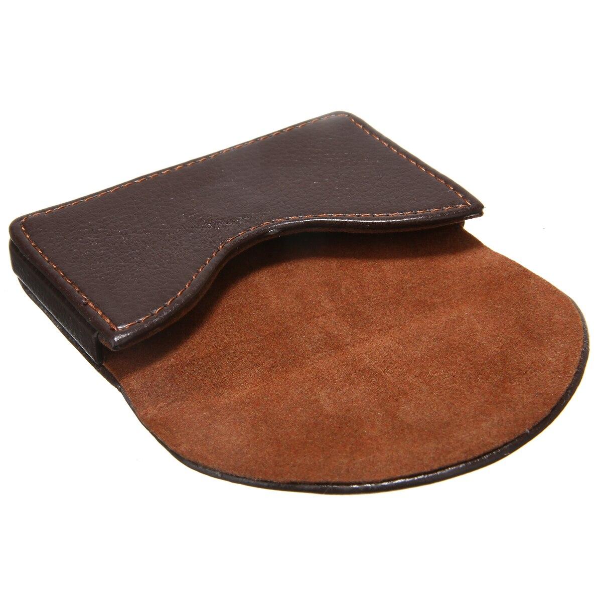 Portatarjetas de negocios de cuero de bolsillo marrón Tarjeta de Identificación de negocios funda, soporte de cartera de gran regalo para tus amigos