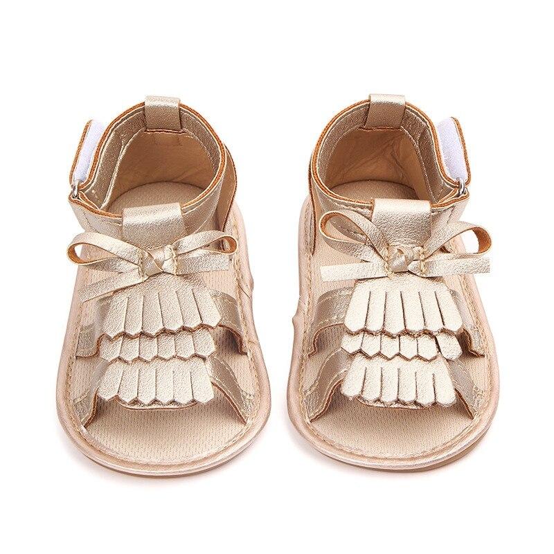Verano bebé Niña Zapatos recién nacido borla lazo moda bebé niña flecos primer caminante Y13