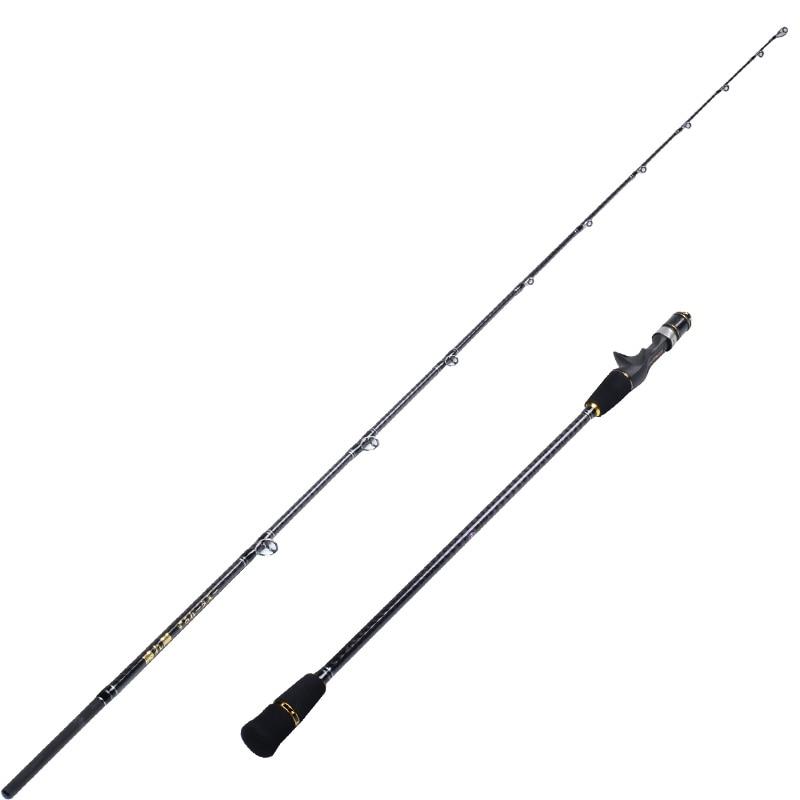 Japan made 1.9m 2 Section Jigging Rod Fishing Rod FULL FUJI PARTS REEL SEAT AND RING Jig Rod JIG 20-180g Slow Jigging Rod enlarge