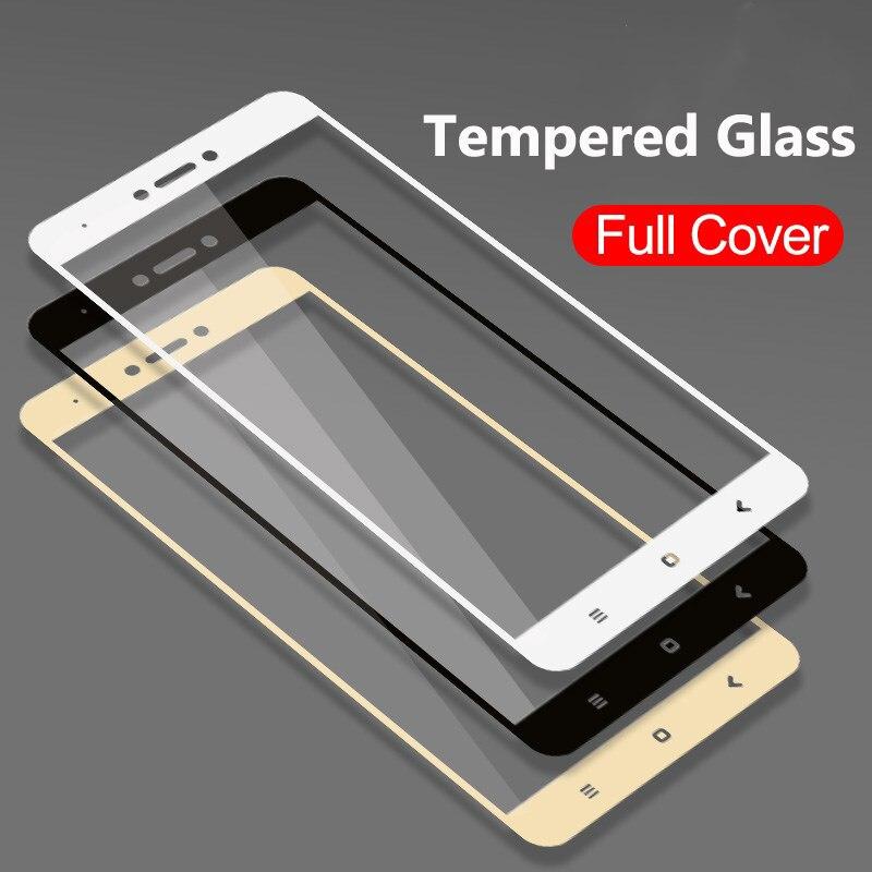 Funda completa templada de vidrio para Xiaomi Redmi 4X 5A Redmi Nota 5 nota Pro 5A primer 5 Plus Nota 4 4X Protector de pantalla templado película