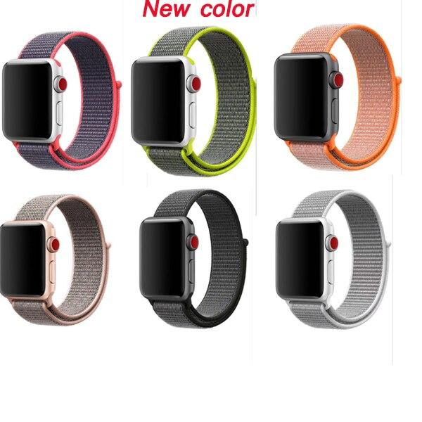 Deporte lazo tejido para apple watch banda de nylon 42mm 38mm 40mm 44m pulsera brazalete correa para reloj apple watch Correa iwatch serie 5/4/3/2/1