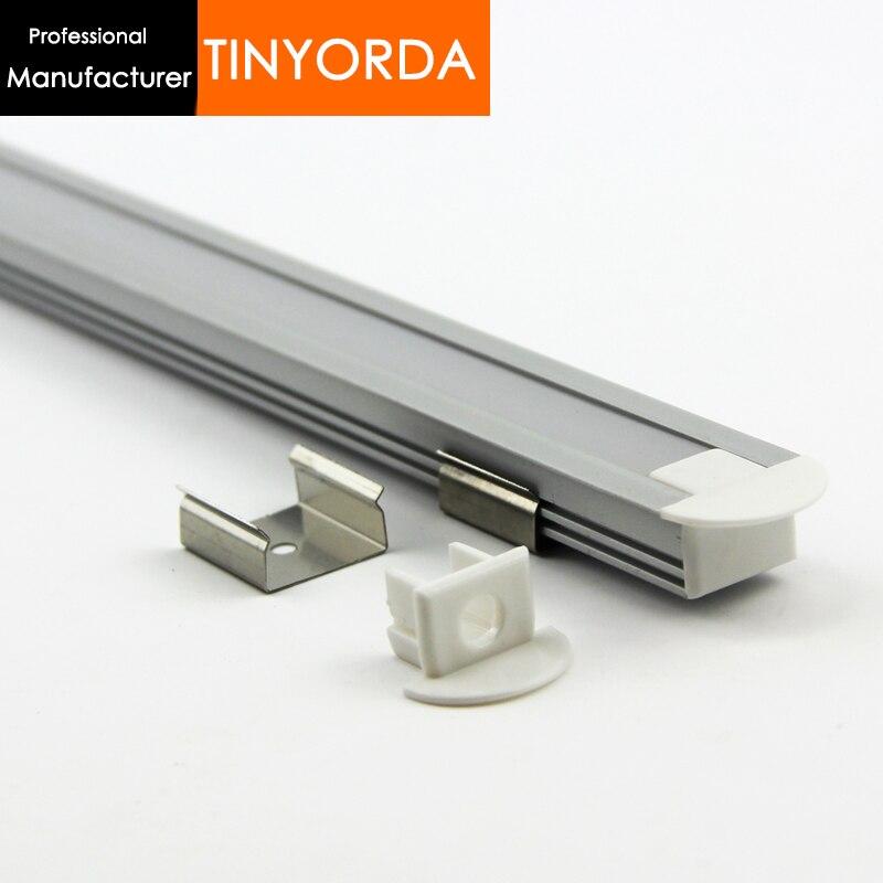 Tinyorda 500Pcs (2M Length)Strip Alu Led Profile LED Profil for 11mm LED Strip Light [Professional Manufacturer] TAB2212