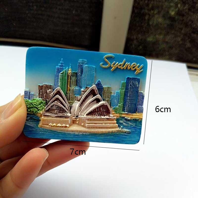 1 Pcs Hot Sale Sydney Australia Opera House Refrigerator Magnet Stickers Souvenirs Home Decor