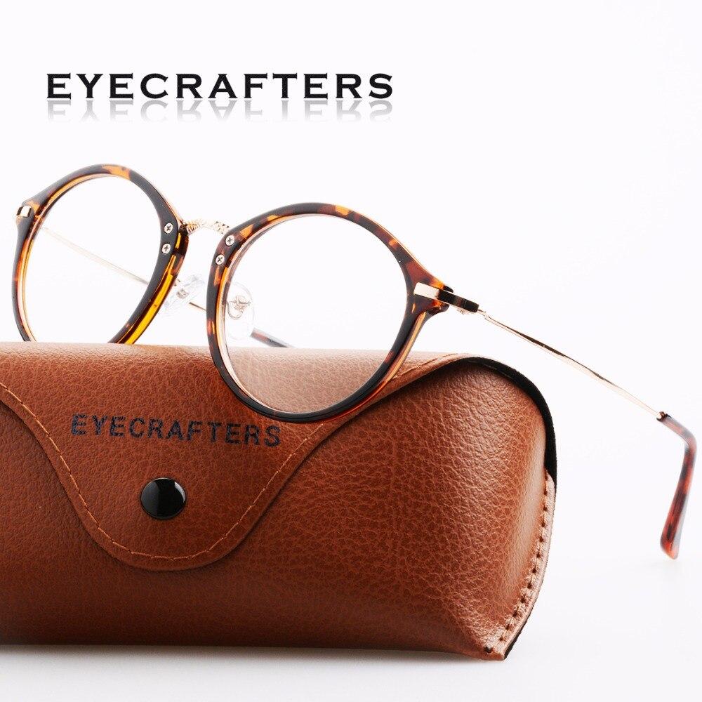Diseñador de marca Retro Delgado redondo para mujer Marco de gafas ópticas señora Vintage lente transparente marcos de gafas de ordenador gafas Rxable