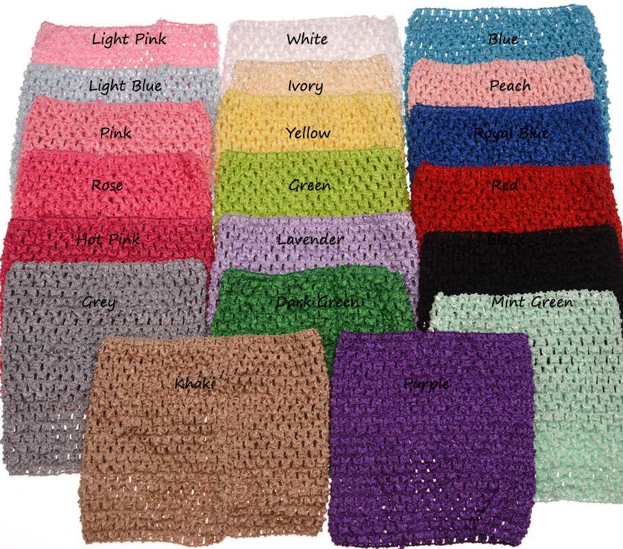3 uds 6 pulgadas Crochet camiseta de tubo sin tirantes para Pettiskirt Tutu Boutique Tube Tops elástico pecho envuelto accesorios de ropa
