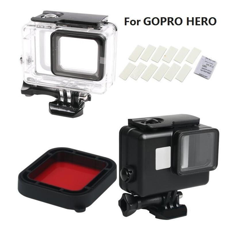 Nuevo para GoPro Hero7 6 5 negro 45M carcasa impermeable accesorios para Cámaras Deportivas carcasa/caja/filtro de buceo/insertos antiniebla