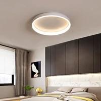 Plafonnier Led au design moderne  luminaire decoratif dinterieur  disponible en rond  blanc noir  couleur cafe  110 220V  ideal pour un salon  une chambre a coucher  un bureau