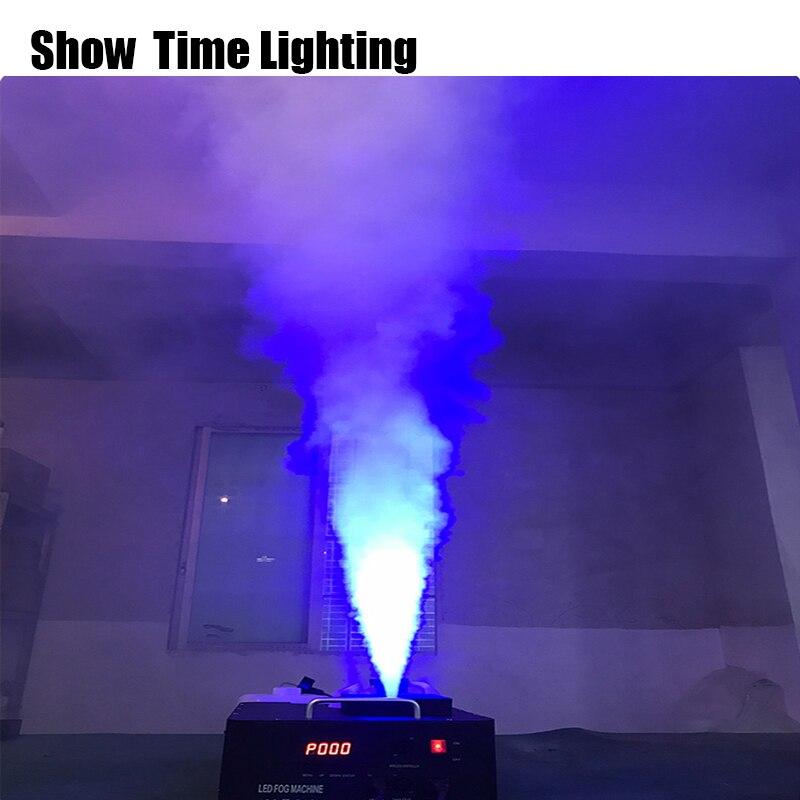 Dj máquina efecto disco vertical colocar 1500W Led RGB deying fog mchine control remoto DMX512 hacer efecto de niebla en el escenario