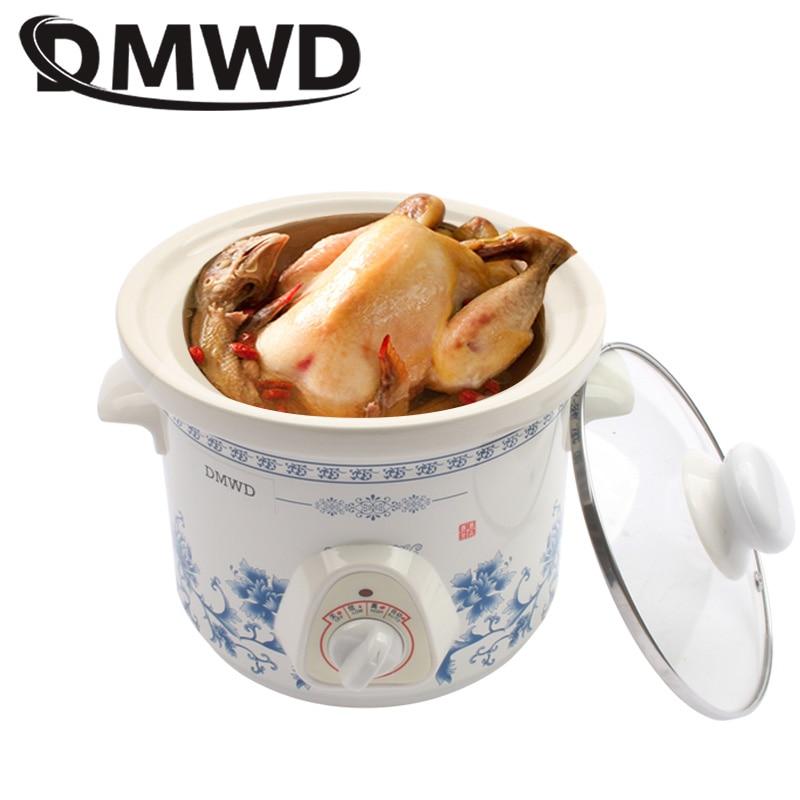 DMWD-Mini olla de cocción lenta eléctrica para el hogar, 140W mecánico de...