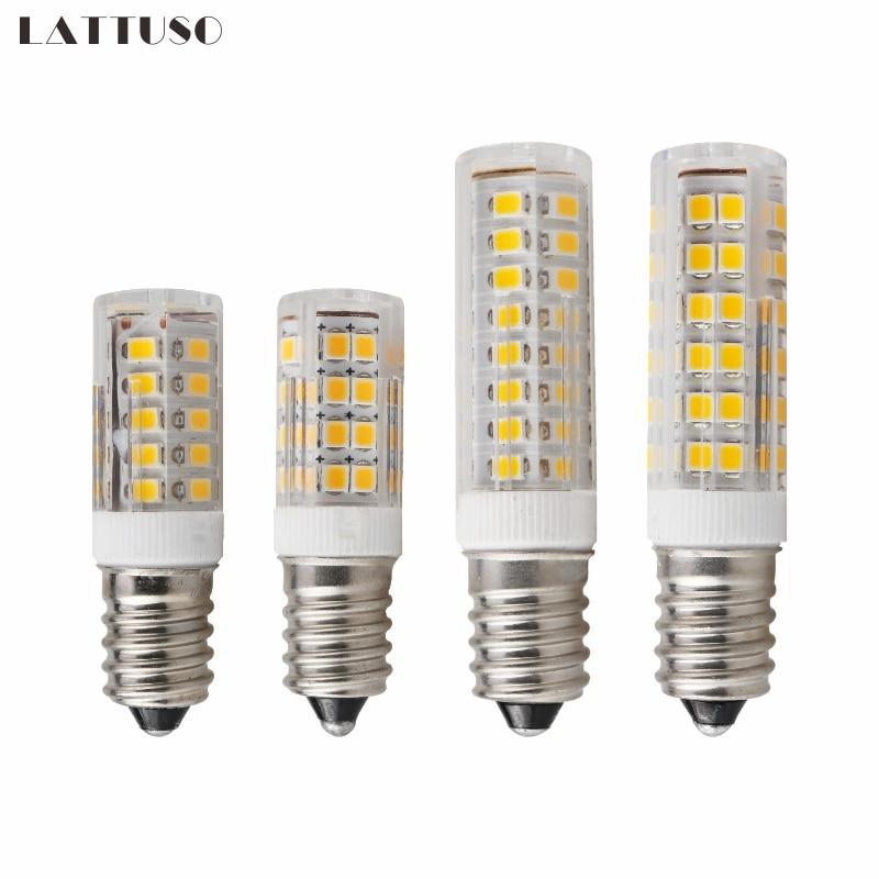 Lâmpada CONDUZIDA E14 3 W 4 W 5 W 7 W AC 220 V 230 V 240 V Bombillas LED luz Milho Bulbo SMD2835 Vela Para Lustres de Cristal de Iluminação