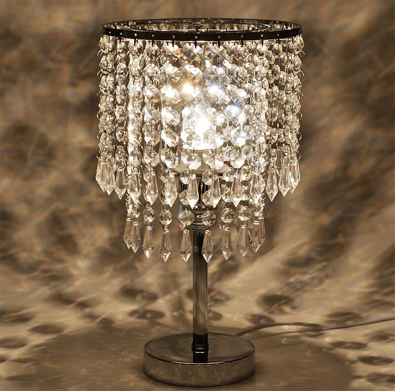 High quality European crystal decorative table lamp LED crystal table lamp fashion wedding gift wedding dress