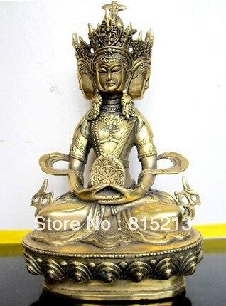Frete Grátis bi0062 bronze Budista VAIROCANA, Herr der Mitte buddha estátua