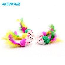 Falso mouse brinquedo para gatos 5 peças, animais de estimação, mini brinquedo com a caneta, mouse colorido, animal de estimação, gato, brinquedos j44
