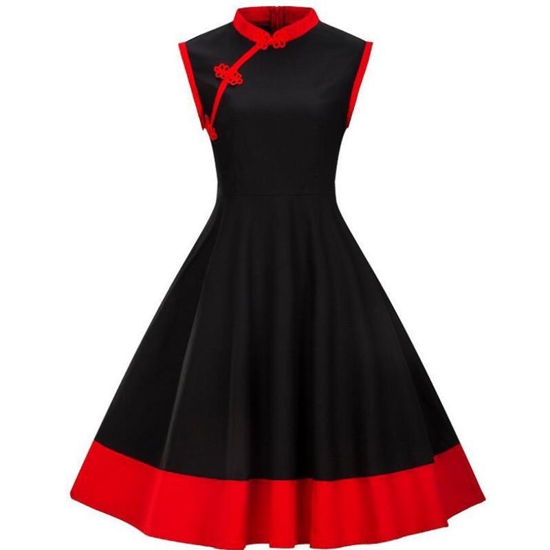 Vestido Pin UP de talla grande para mujer, ropa de S-4XL de talla grande, Vestidos Retro informales de verano para fiesta, Vestidos Rockabilly de los años 50 y 60