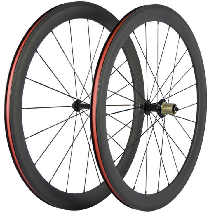 Rueda de bicicleta de carretera de carbono 700c 50mm clincher/tubular/sin tubo ruedas de bicicleta R13 radios de Pillar 1432 forma de U 25mm de ancho DPD XDB