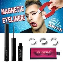 Waterproof Long Lasting Magnetic Liquid Eyeliner & Magnetic False Eyelashes & Tweezer Set Eyeliner False Eyelashes