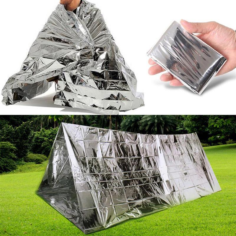 130x210cm la supervivencia de emergencia mylar impermeable bolsa de dormir manta de aluminio térmica