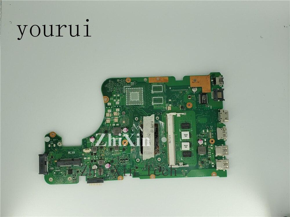 Yourui X555LD 4 جيجابايت i3-4010u اللوحة الأم ل ASUS X555L X555LA دفتر اللوحة اختبار كامل العمل الكمال
