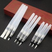 9 PCS Portable Paint Brush Water Color Brush Pencil Soft Watercolor Brush Pen for Beginner Painting Drawing School Art Supplies