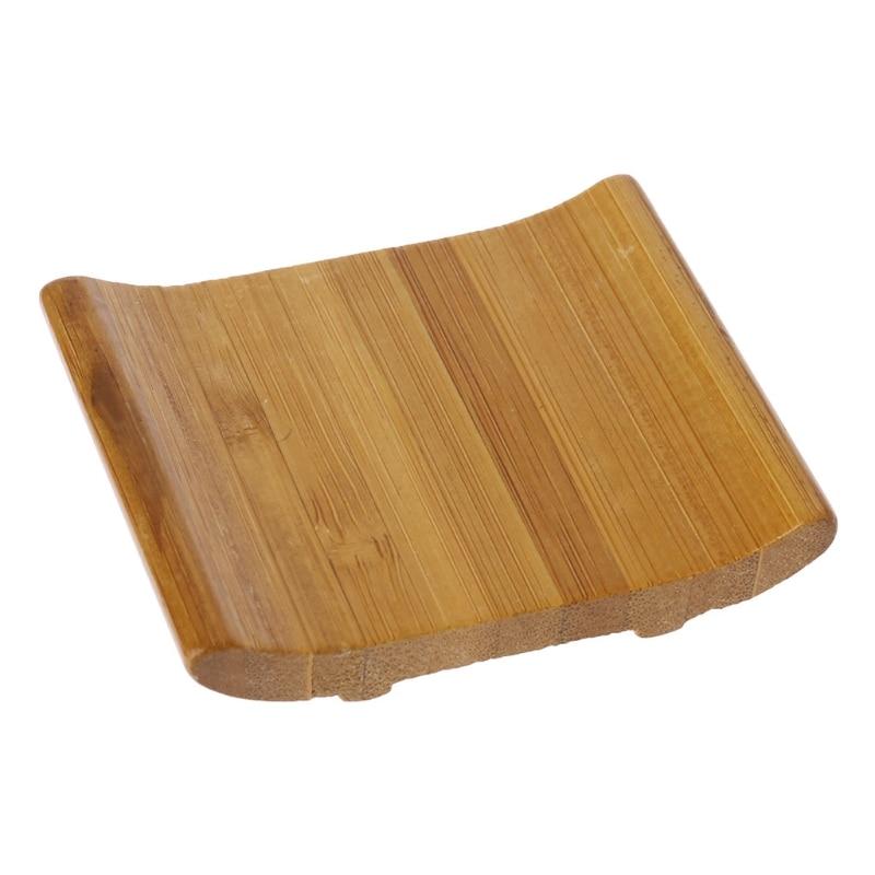 1PCS Natural Bamboo Soap Holder Dish Bathroom Shower Plate Stand Storage Box Rack