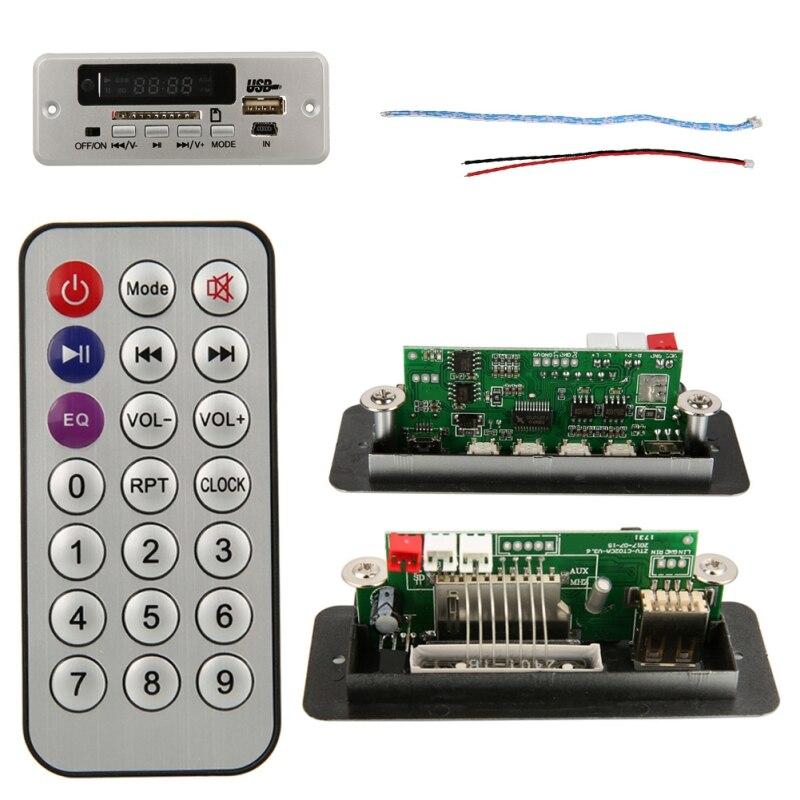 Fm-радио с дистанционным ZTV-CT02B(02EA) цифровой Красный светодиодный дисплей USB TF Радио MP3 аудио модуль с дистанционным радио
