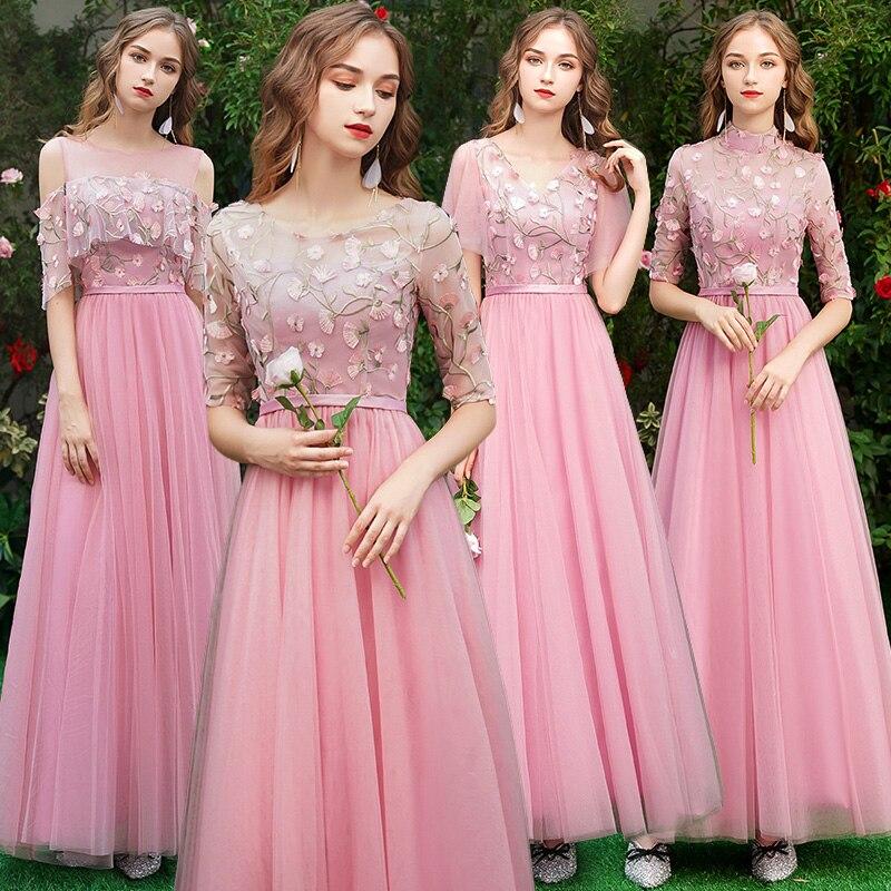 Женское платье подружки невесты Beauty Emily, серое платье подружки невесты с коротким шлейфом, платье трапециевидной формы для свадебной вечери...