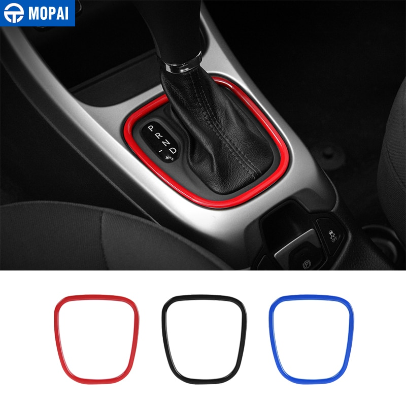 MOPAI Automotive Interior Stickers for Jeep Compass 2017+ ABS Car Gear Shift Knob Panel Decoration Cover for Jeep Compass 2018