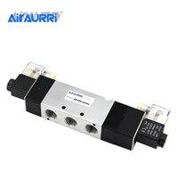 1pcs 4v430 15 ac220v 5 ports 3 position dual solenoid pneumatic air valve 12 bspt