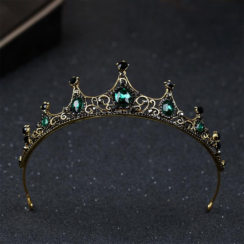 KMVEXO, новинка, Элегантные зеленые кристаллические короны, аксессуары для волос для свадьбы, диадема и короны, диадема