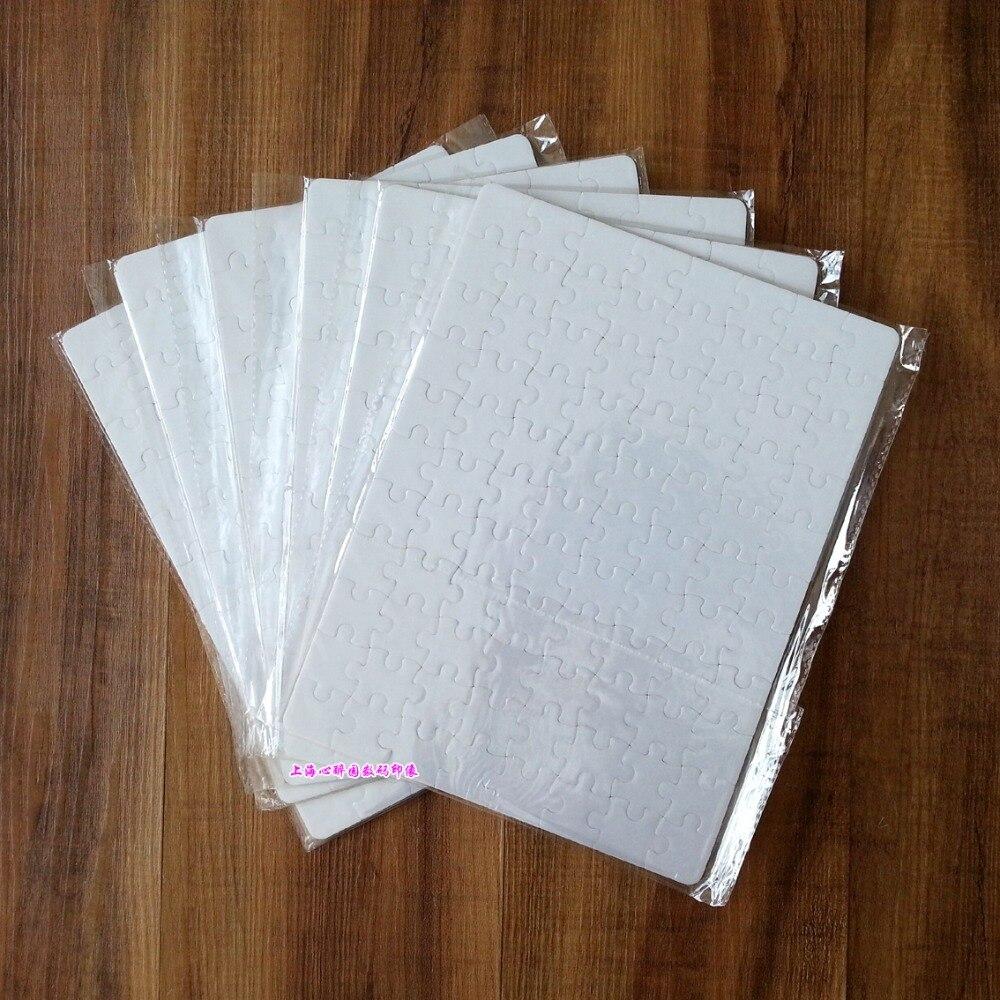 شحن مجاني 10 بوصة 19x25 سنتيمتر التسامي فارغة الألغاز 10 قطعة DIY الحرفية اللغز الحرارة الصحافة التسامي الحبر نقل