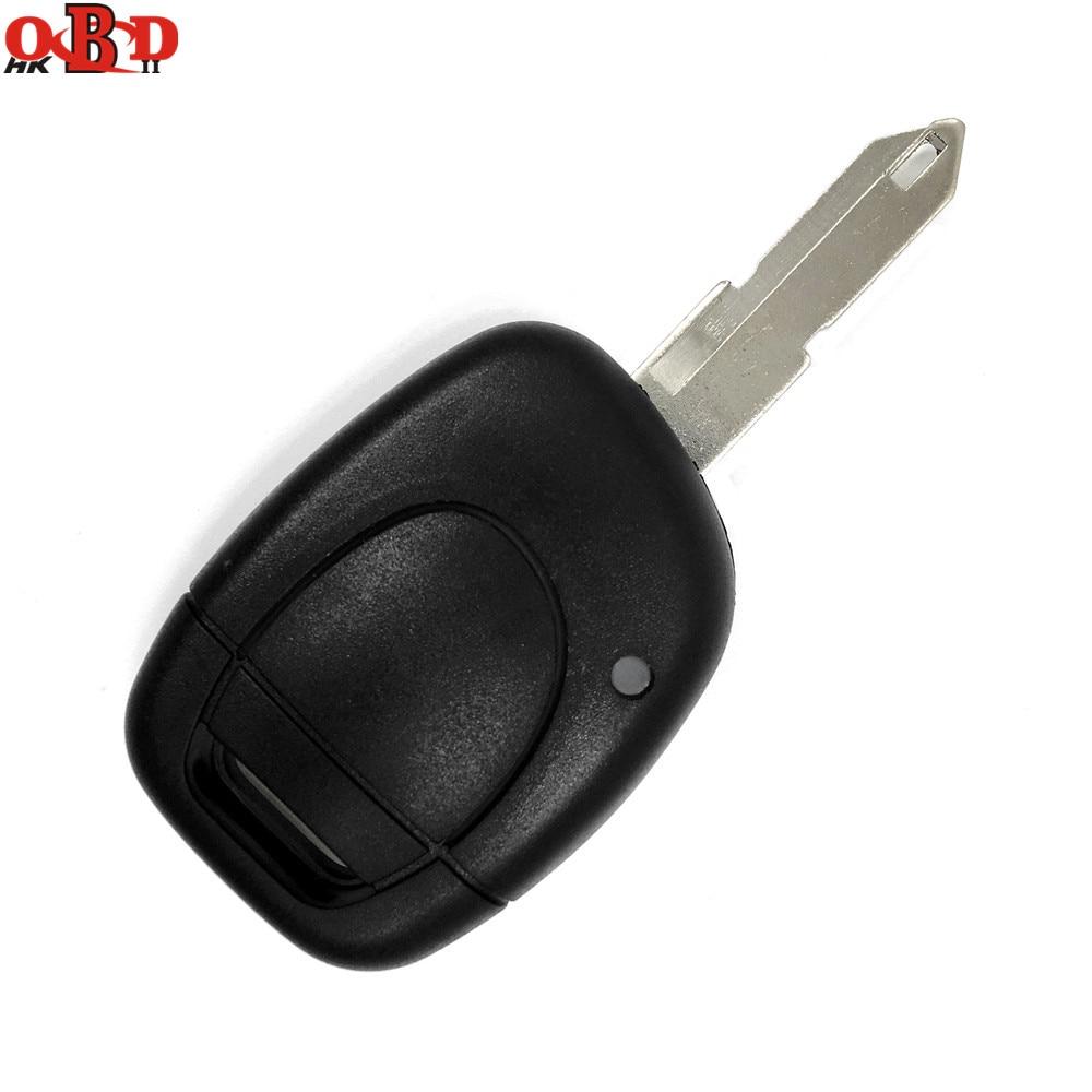 Hkobdii 1 botão id46 chaves do carro transponder 433 mhz pcf7946at flip chave remota para renault clio kango