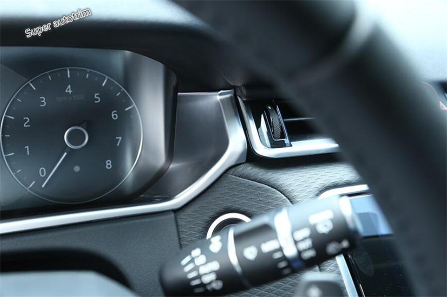 Lapetus Accessories Interior Dashboard Instrument Panel Trim For Land Rover Range Rover Velar 2018 2019 2020 Carbon Fiber ABS
