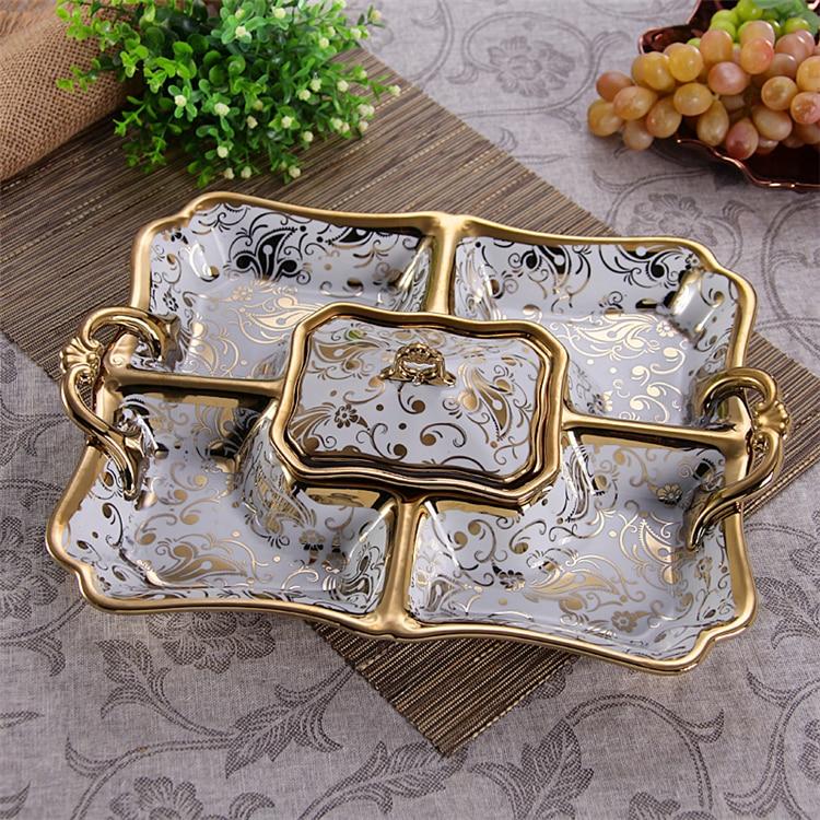 طبق عشاء من البورسلين (Epergne) ديكور أقسام خزفية منزلية صينية تقديم أطباق وإكسسوارات أدوات المطبخ