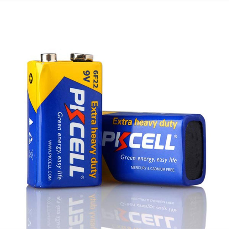 Batería seca alcalina 9V f22 6f22 de alta calidad para control remoto de alarma de timbre (2 unids/lote) Envío Gratis