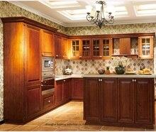 Armario de cocina de madera maciza (LH-SW092)