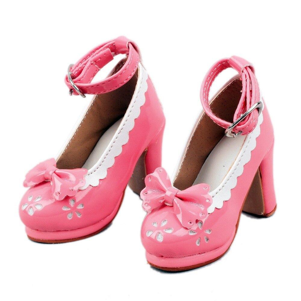[Wamami 123 # Rosa 1/3 arco decoración blanca BJD SD defensa AOD Dollfie zapatos de tacón alto