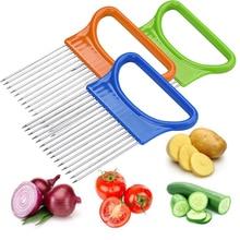 Tenske fruit cutter Tomato Onion Vegetables Slicer Cutting Aid Holder Guide Slicing Cutter Safe Fork*30 GIFT 2017