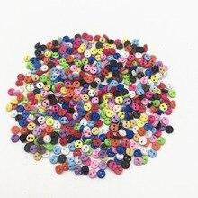 1000 pièces 4mm mixte Mini poupée vêtements bouton 2 trous Flatback boutons bricolage à la main couture Scrapbooking accessoires