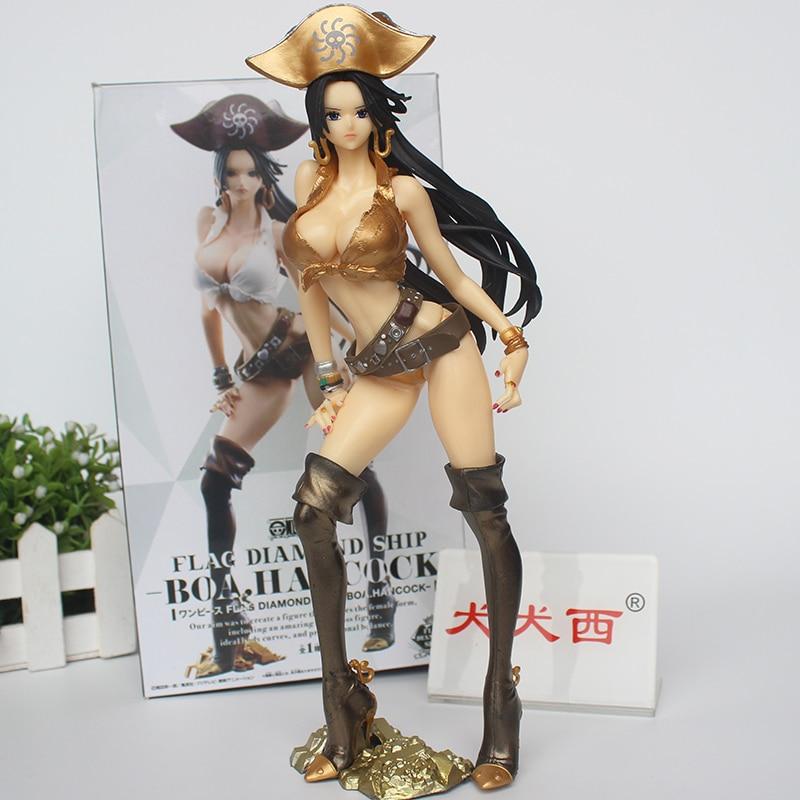Anime One Piece Gold Boa Hancock, Bandera de Cosplay, Diamond Ship Ver. Figura de PVC de juguete de modelos coleccionables, 25cm