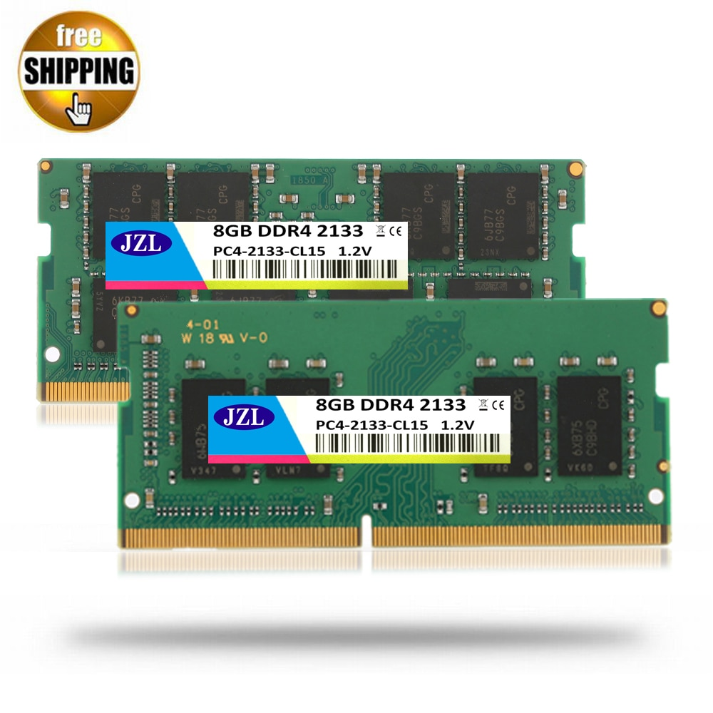 Jzl sodimm محمول PC4-17000 DDR4 2133 ميجا هرتز 8 جيجابايت PC4 17000 ddr 4 2133 ميغاهيرتز 260-PIN LC15 1.2 فولت وحدة الذاكرة ram ل اللفة أعلى/محمول