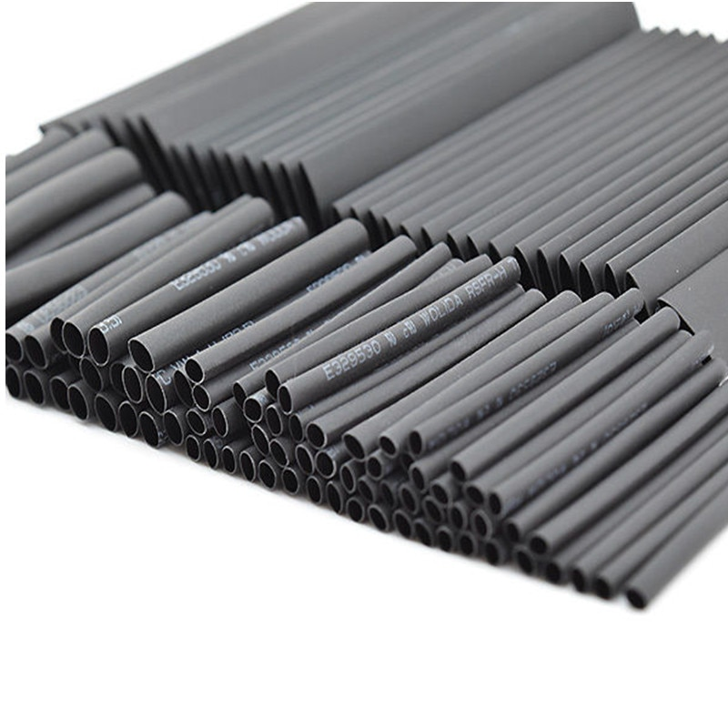 127 unids/set negro surtido de poliolefina sin halógenos tubo termoretráctil surtido tubo manguito Cable Kit Ratio 21