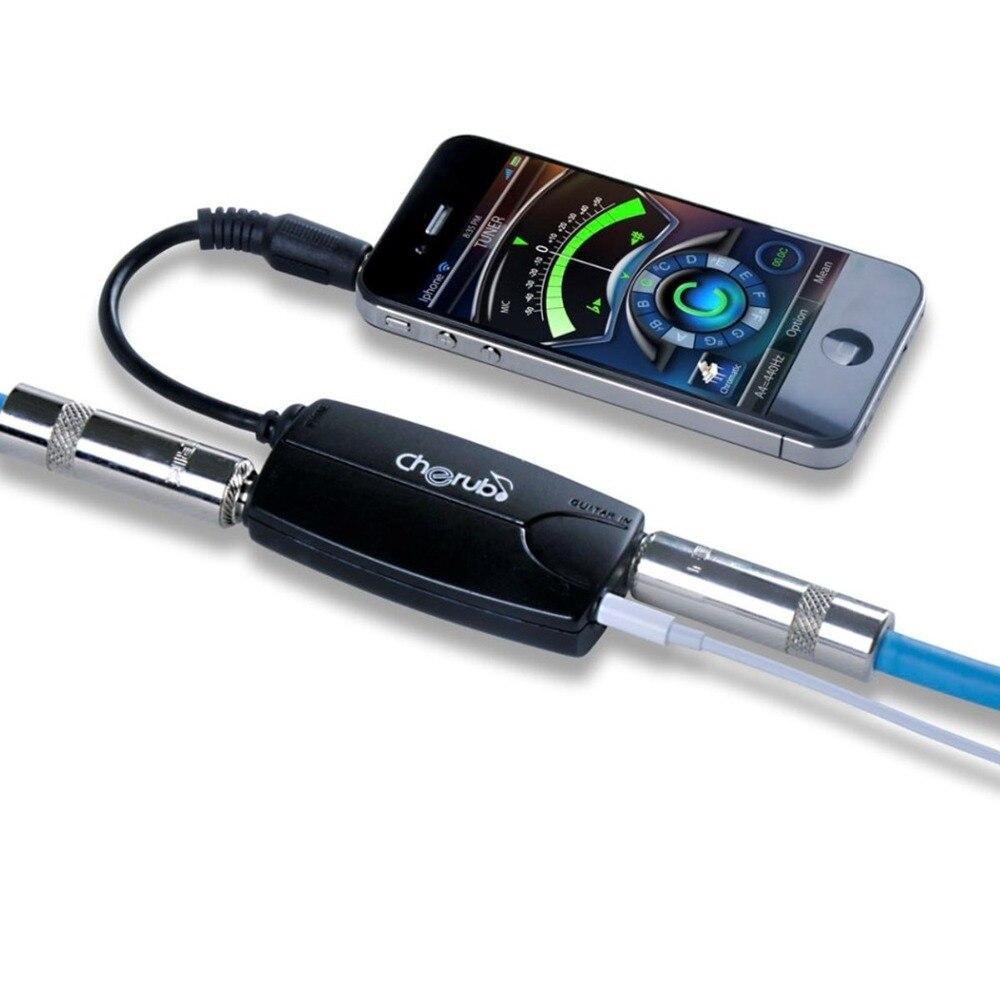 Cherub guitarra/bajo para iPhone adaptador para strumpune   interfaz de metrónomo mecánico clásico GB2i para cromático, guitarra, bajo, Vi