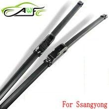 Car wiper blade for Ssangyong Actyon Korando Kyron Rexton Rodius Soft Rubber 2pcs/PAIR