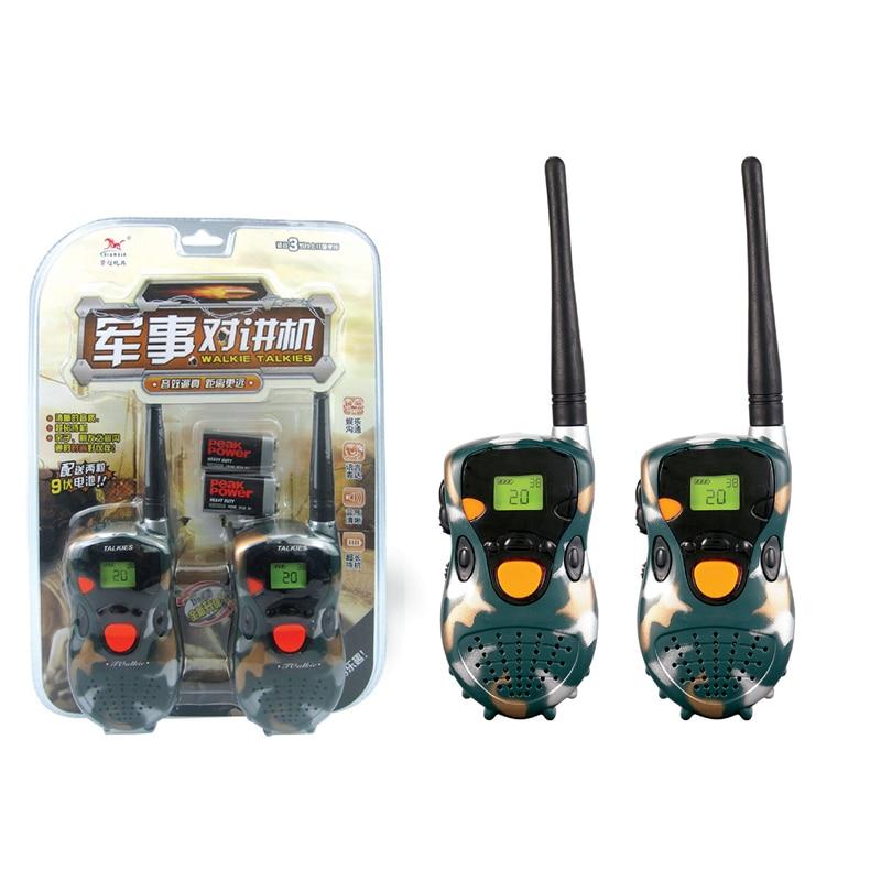 Mini walkie talkie t388 frequência, 2 peças, portátil, rádio bidirecional, presente para meninos e meninas