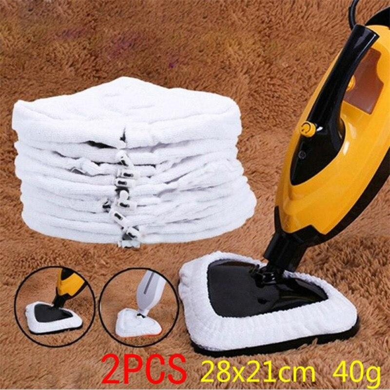 2pcs סמרטוט נקי לנגב אדים רחיץ לשימוש חוזר בד החלפת Pad מיקרופייבר לבן להחליף סמרטוט כרית בד זרוק משלוח