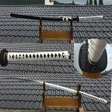 Katana 1060 épée de samouraï fait main   En acier à haute teneur en carbone, protection à motifs de bambou, fourniture complète dune lame tranchante