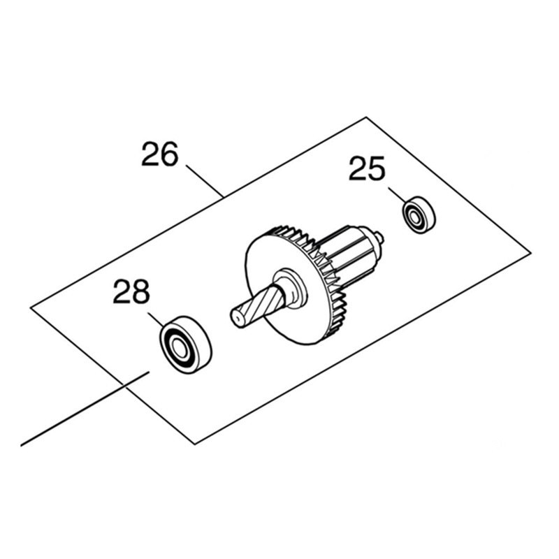 Genuine Armature For Makita 519448-0 DSP600 DSP601