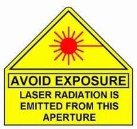 200 20x20cm avoid exposure laser radiation is emitted from this aperture water resistant pvc sticker item no ca24