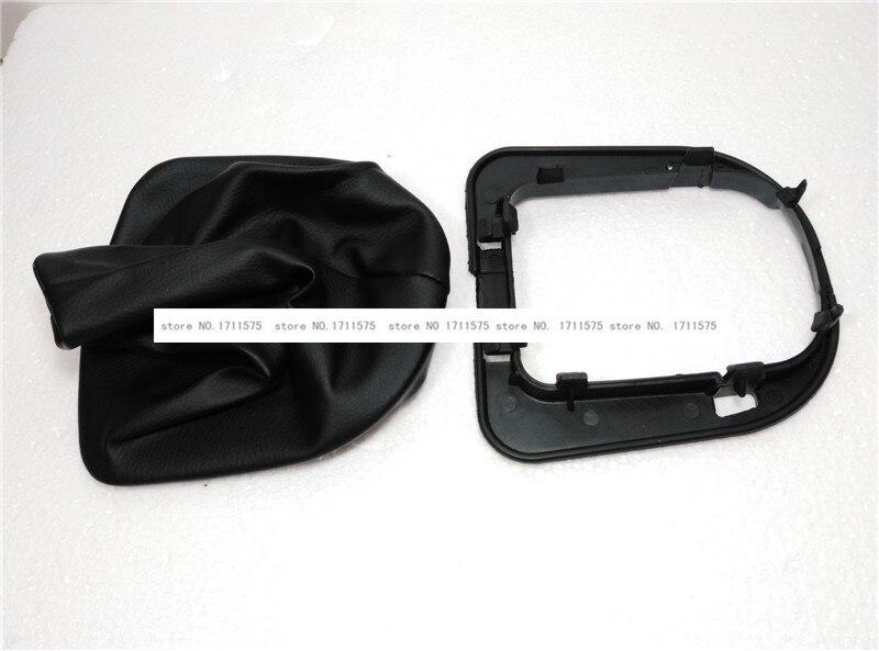 Gear Dustproof cover for Peugeot 307 206 207 308 408 for  Citroen C-triomphe C-quatre Shift Lever dust cover Blcak leather