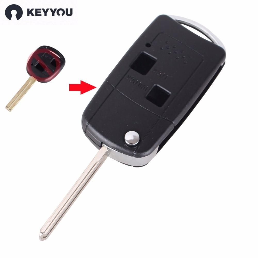 KEYYOU Flip Folding Remote-Car Key Fall Fob Für LEXUS IS200 IS300 LS400 LS430 Schlüssel Shell 2 Tasten